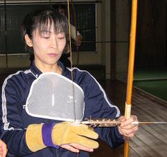 弓道体験中